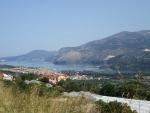 De baai van Argostoli, Kefalonië, Griekenland
