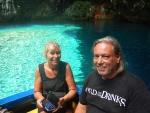 Met een bootje in de Melissani grot, Kefalonië, Griekenland