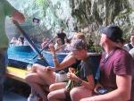 Selfies in de Melissani grot, Kefalonië, Griekenland