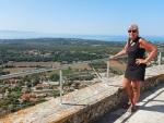 Op het Venetiaans kasteel St. George, Kefalonië, Griekenland