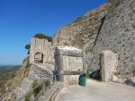 Ingang van het Venetiaans kasteel St. George, Kefalonië, Griekenland