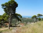 Uitzicht vanaf het Venetiaans kasteel St. George, Kefalonië, Griekenland