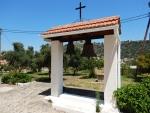 Klokken bij het klooster van Agios Andreas, Griekenland