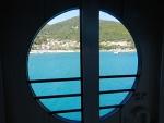 Poros vanaf de ferry, Griekenland