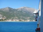 Poros, Kefalonië, vanaf de ferry, Griekenland