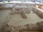 Badkamer in het paleis van Nestor, Griekenland