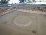 De troonkamer in het paleis van Nestor, Griekenland