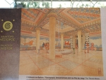 Impressie van de troonkamer, paleis van Nestor, Griekenland