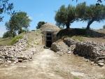 Gerestaureerde tholos, Peristeria, Griekenland
