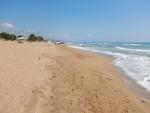 Het strand bij Zacharo, Griekenland