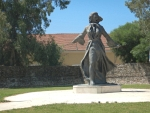 Standbeeld in Mesolongi, Griekenland