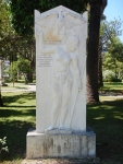 Monument in het Park van de Helden, Mesolongi, Griekenland