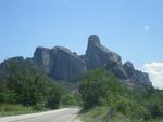 We naderen de Meteora, Griekenland