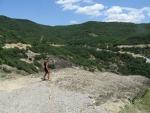Lies op het randje, Meteora, Griekenland