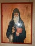 Schilderij bij het Metamorfosis Sotiris klooster, Griekenland