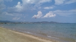 Parasailing bij Kalyves, Griekenland