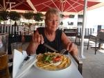 Eten in Nea Moudania, Griekenland