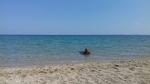 Zwemmen in de warme zee, Kalybes, Griekenland
