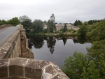 North Tyne rivier in Chollerford