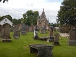 Kinkardine begraafplaats vlakbij Ardgay, Schotland