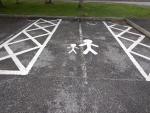 Kinderparkeerplaats bij de Falls of Shin, Schotland