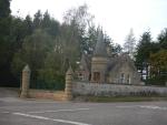 Een gatelodge vlakbij Forres, Schotland