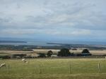 Uitzicht op Findhorn baai, Schotland