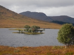 Eilandje in Loch Droma, Schotland
