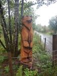 Houtsnijwerk vlakbij Lemahamish, Schotland