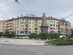 Het Vassil Levski Monument in het centrum van Sofia, Bulgarije