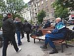 Schakers in het stadspark van Sofia, Bulgarije