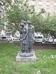 Beeldengroep in de stadstuin van Sofia, Bulgarije