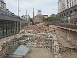 De oude stad Serdika in Sofia is gedeeltelijk opgegraven, Bulgarije