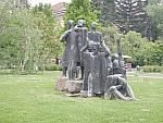 Beeldengroep in het centrum van Sofia, Bulgarije