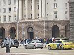 Demonstratie voor het parlemensgebouw, Bulgarije