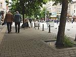 De bedelares van gisteren zit nog op dezelfde plek, Sofia, Bulgarije