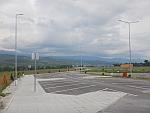 Bulgarije vanaf een parkeerplaats langs de E79 bij Strumyani, Bulgarije