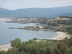 Lege stranden bij Sarti op het schiereiland Sithonia, Griekenland