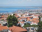 Thessaloniki vanaf de Heptapyrgion gevangenis, Griekenland