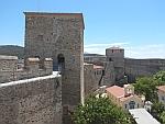 De oude muren van Thessaloniki, Griekenland