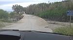 Beschadigde weg bij het Theotokos strand, Pilion, Griekenland