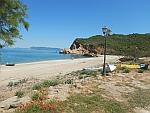 Het Agios Konstantinos strand op het Pilion schiereiland, Griekenland