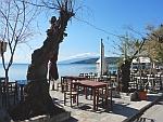 De kust bij Milina op het Pilion schiereiland, Griekenland