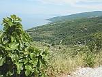Uitzicht op de oostkust van het Pilion schiereiland, Griekenland