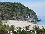 Het strand bij Potistika, Pilion schiereiland, Griekenland