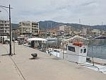 De haven van Karystos op Evia, Griekenland
