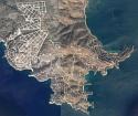 Wegen bij Karystos in een verlaten gebied, Griekenland