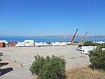 Windmolenonderdelen bij Akrotiri, Evia, Griekenland