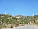Windmolens in het zuiden van Evia, Griekenland
