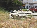 Het mausoleum van een Romeinse officier in Karystos, Griekenland